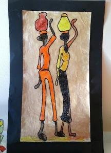 Mujeres llevando agua, por el Primer Sol (2010)