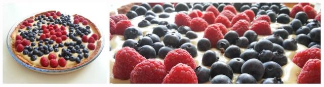 Tarta primavera de frutas sin gluten ni lactosa
